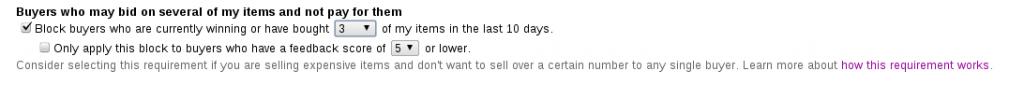Buyer Requirements